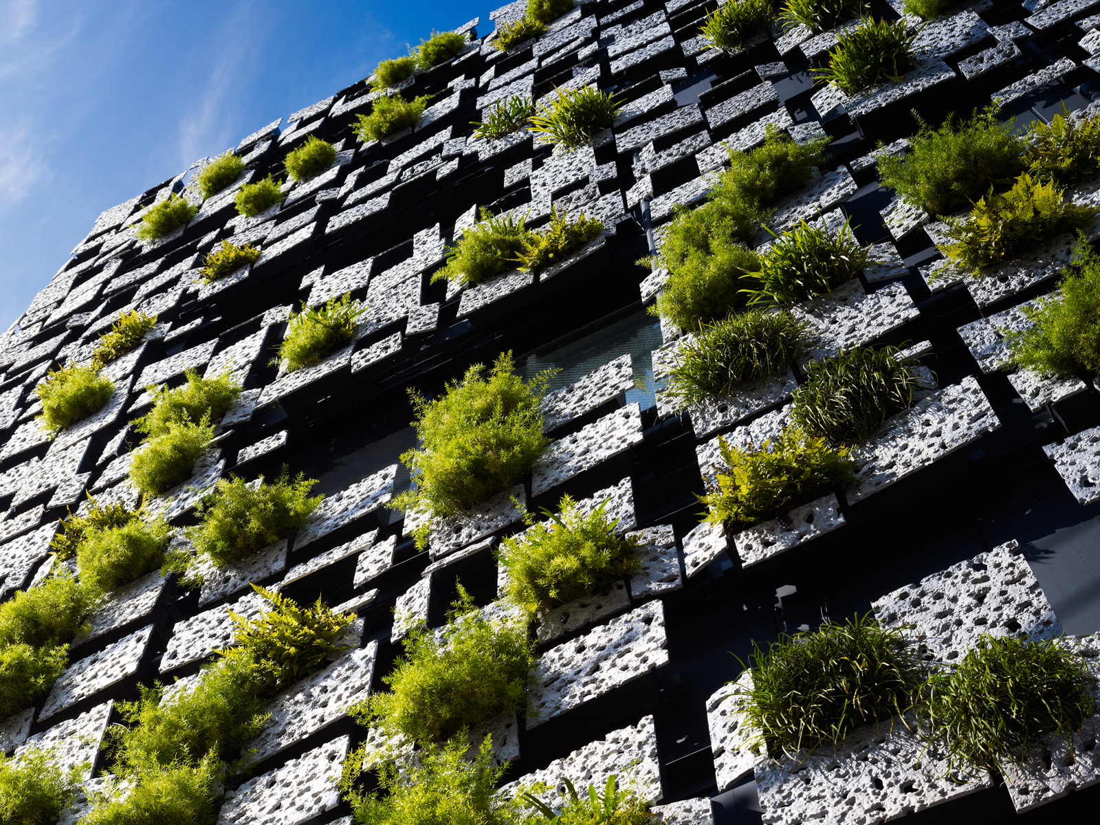 Architecture Corner Green Walls Green Cast Facade By