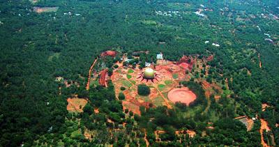 Auroville desde el aire