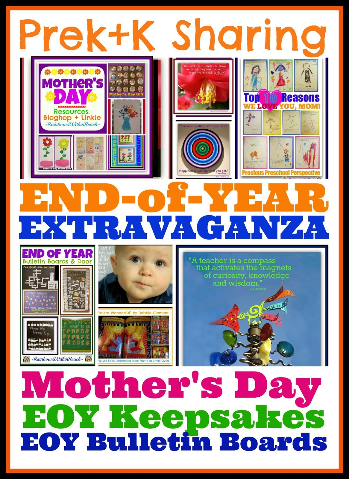 End of Year Extravaganza: Mother's Day, EOY Bulletin Boards + Keepsakes @PreK+K Sharing