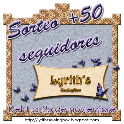 SORTEO EN LYRITH&#39;S SEWING BOX