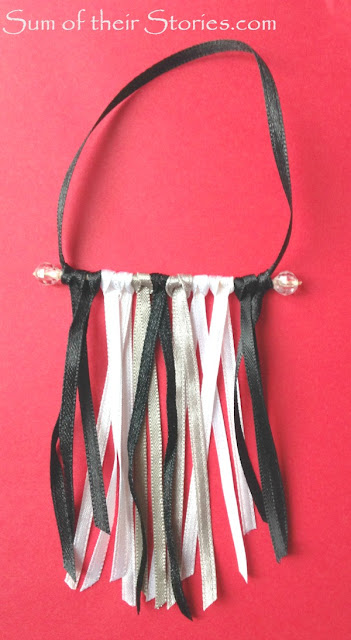 Mini ribbon wall hanging Christmas Tree Ornaments