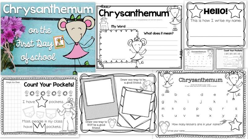 Chrysanthemum Book Activities Chrysanthemum Activities Jpg