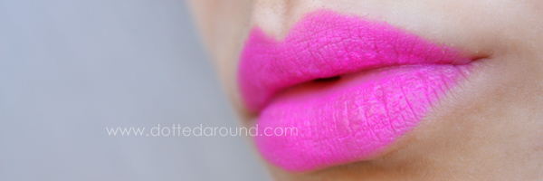 Mac candy yum yum neon lipstick swatch