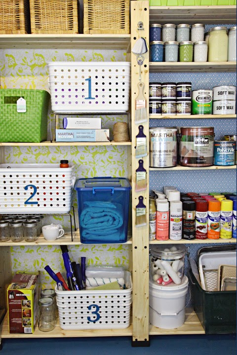 Iheart organizing our storage spaces storage room paint organization - Organizing small spaces cheap paint ...