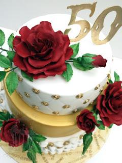 goldene hochzeit wedding torte zuckerrose fondant rose rose
