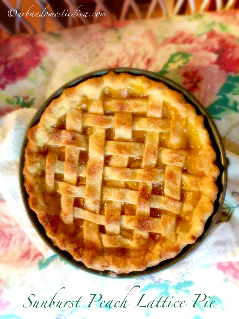 RECIPE: Sunburst Peach Lattice Pie
