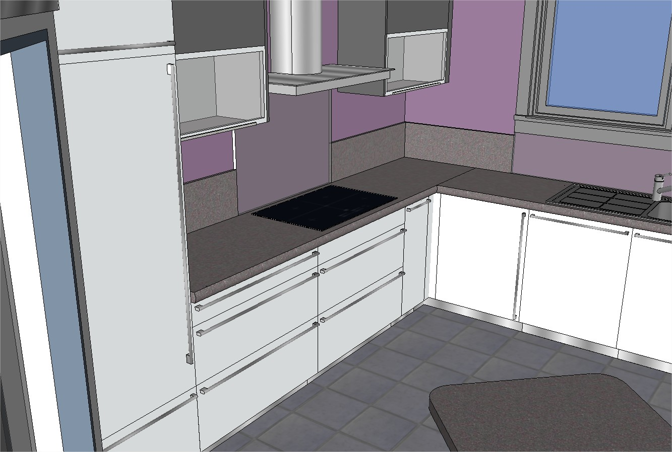 Mob ossature bois isolation energie domotique for Cuisine sketchup 8