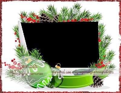 ~~ Green Christmas balls