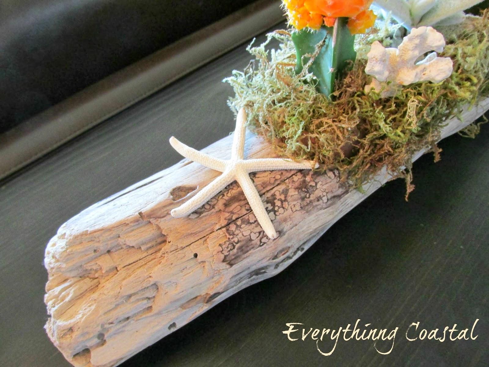 Everything coastal a driftwood centerpiece coastal for Driftwood centerpiece