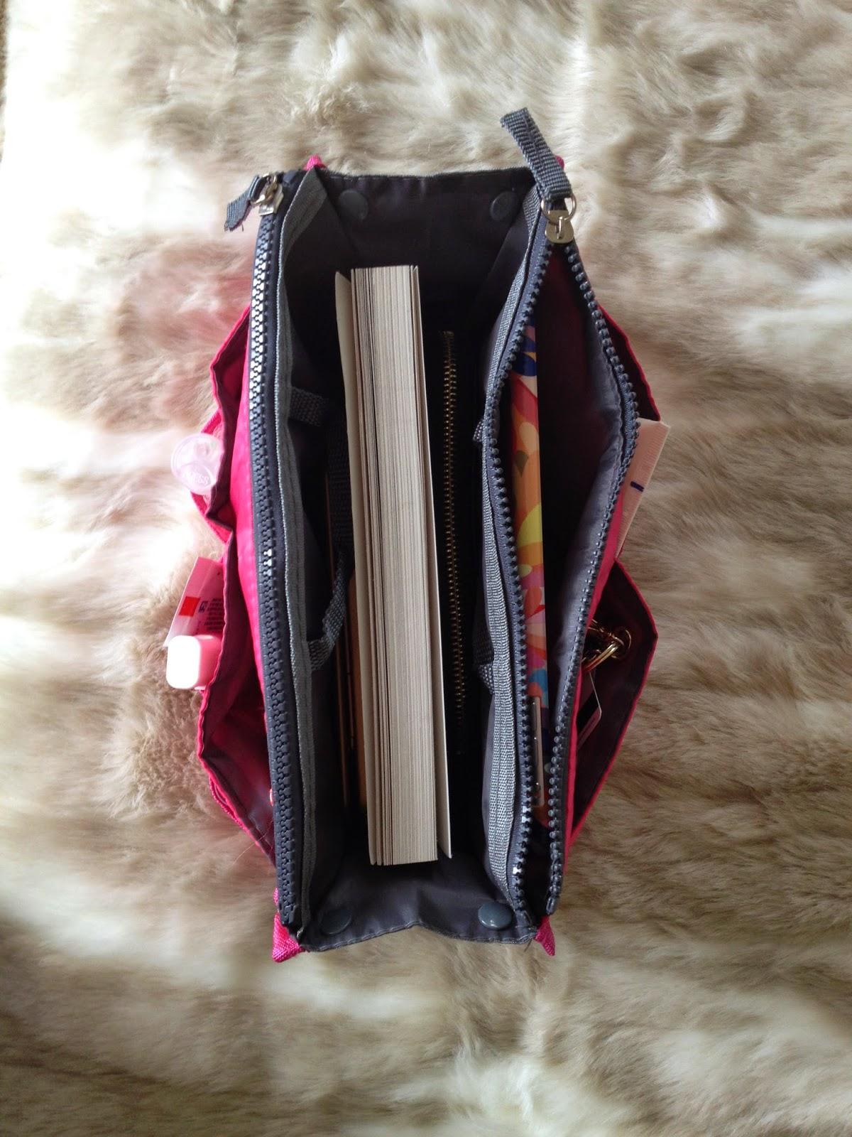 pink purse organizer