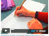 Video Tutorial: Writing on Fabric