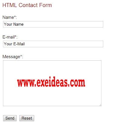 How To Create An HTML Working Contact Form For Your Blog & Website
