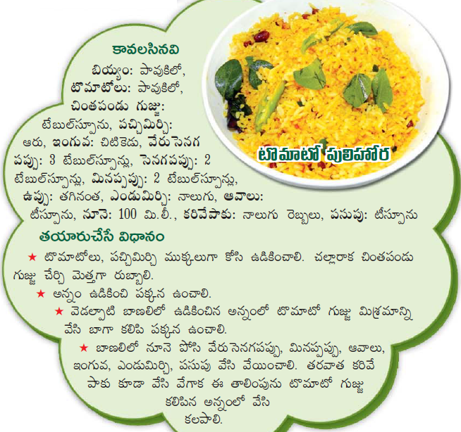Healthy food recipes tomato pulihora recipe in telugu tomato pulihora recipe in telugu forumfinder Choice Image
