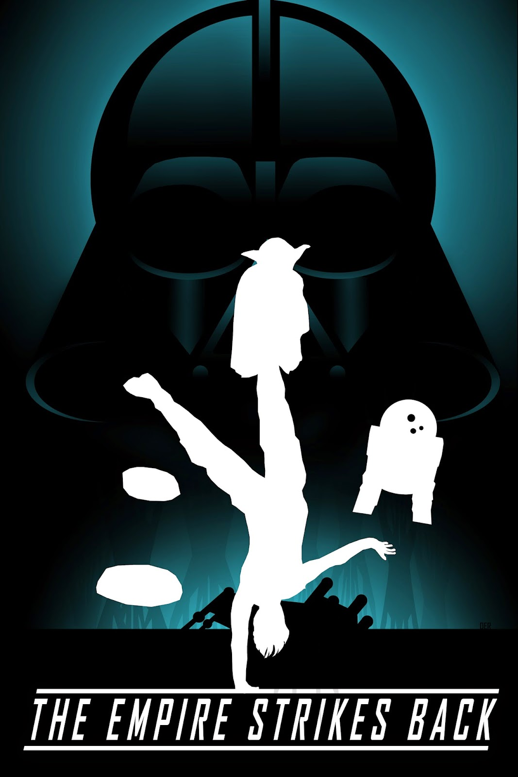 Movie poster design for Star Wars The Empire Strikes Back by Darian Robbins