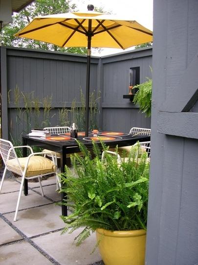 Decoraci n minimalista y contempor nea decoraci n de - Decoracion de patios pequenos ...