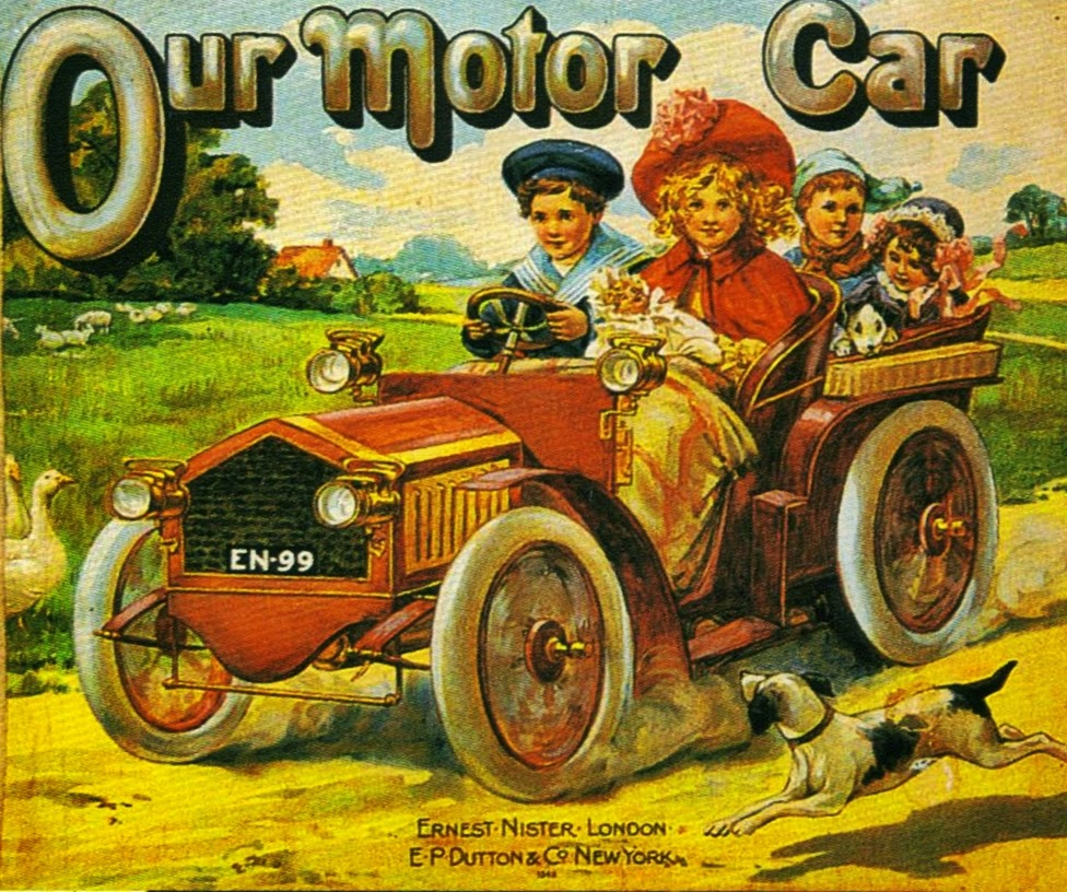Vintage illustration of a car for children