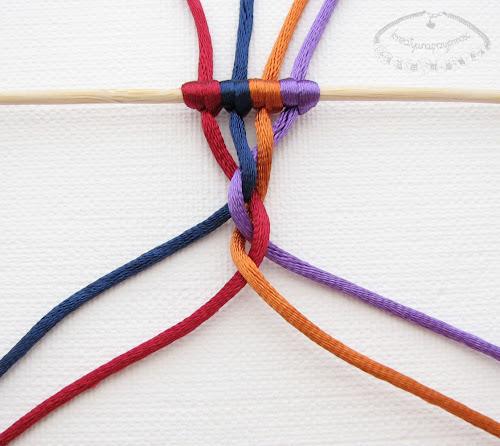 warkocz z czterech sznurków 7