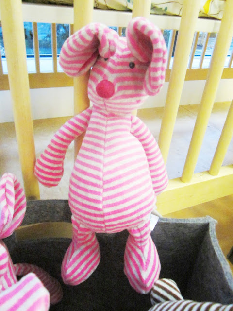 striped pink pig stuffed animal