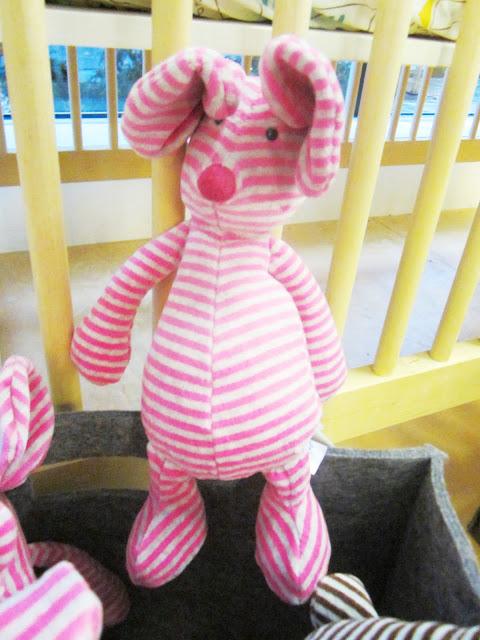 striped pink pig stuffed animal