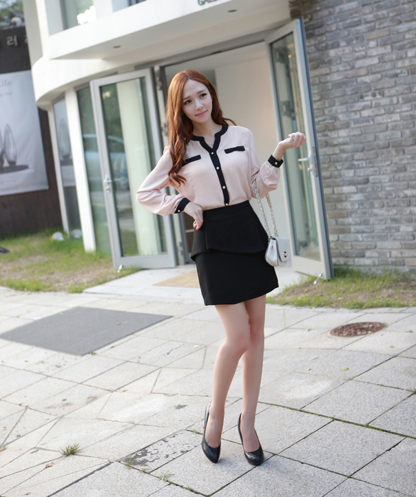 Heels pencil skirt with collar newhairstylesformen2014 com