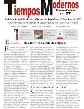 TIEMPOS MODERNOS. La revista de información y propaganda del SOT-UGT