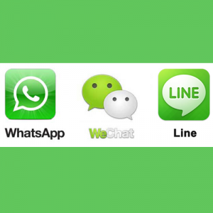 Applications Messenger - Comparison WhatsApp, Line, and WeChat