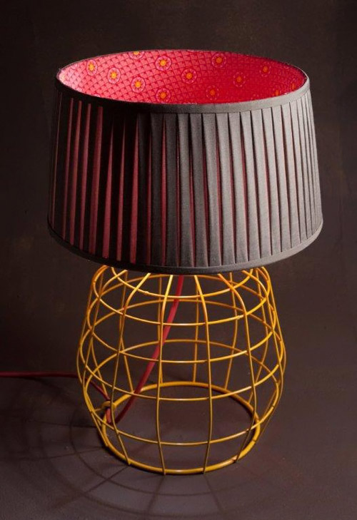 SOUTH AFRICAN SHWESHWE CLOTH LINED LAMPSHADE NATALIE DU TOIT FOR