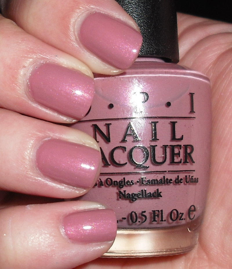 Opi Nail Polish Mauve Color: Imperfectly Painted: OPI Windy City Pretty