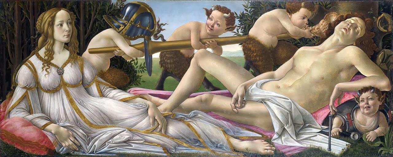 Venus y Marte, Sandro Botticelli