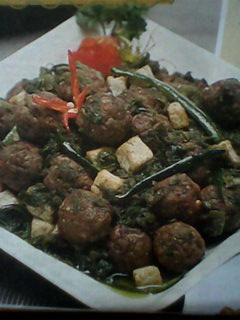 resep cara membuat bola daging masak hijau