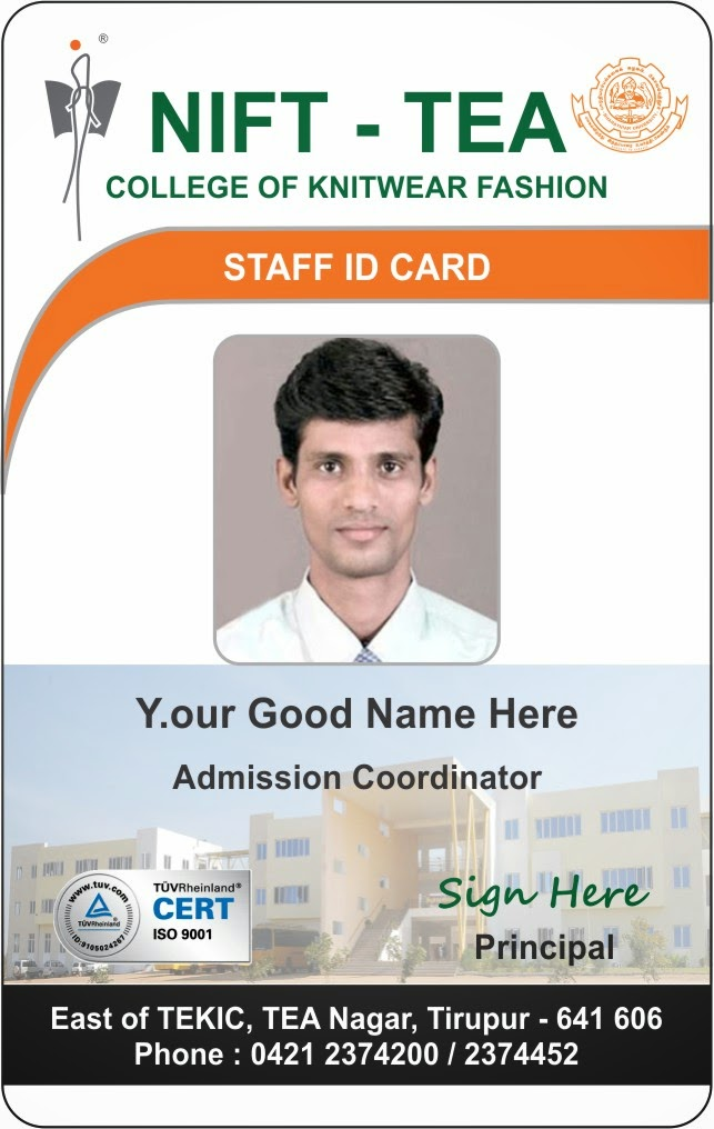 staff id badge template - id card coimbatore ph 97905 47171 september 2014