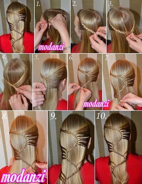 Antik Yunan Örgüsü Saç Modeli Nasıl Yapılır ? (Resimli Anlatım)