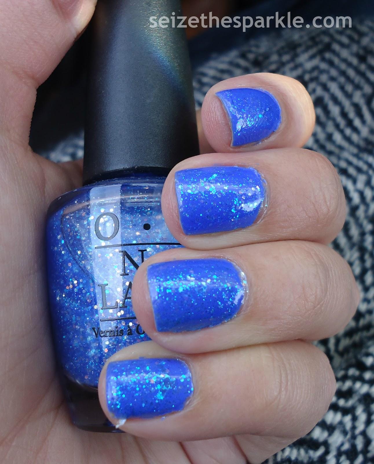 Sally Hansen Pacific Blue glitter sandwich