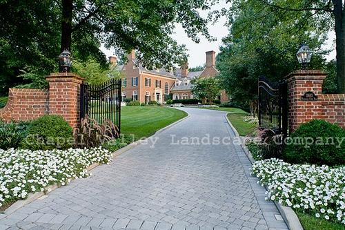 Brick Driveway Pillars