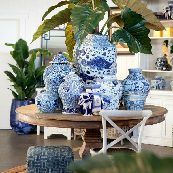 Porcelana Chinesa Azul E Branca
