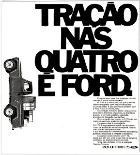 propaganda pick-up Ford F-75 - 1972, brazilian advertising cars in the 70s; os anos 70; história da década de 70; Brazil in the 70s; propaganda carros anos 70; Oswaldo Hernandez;