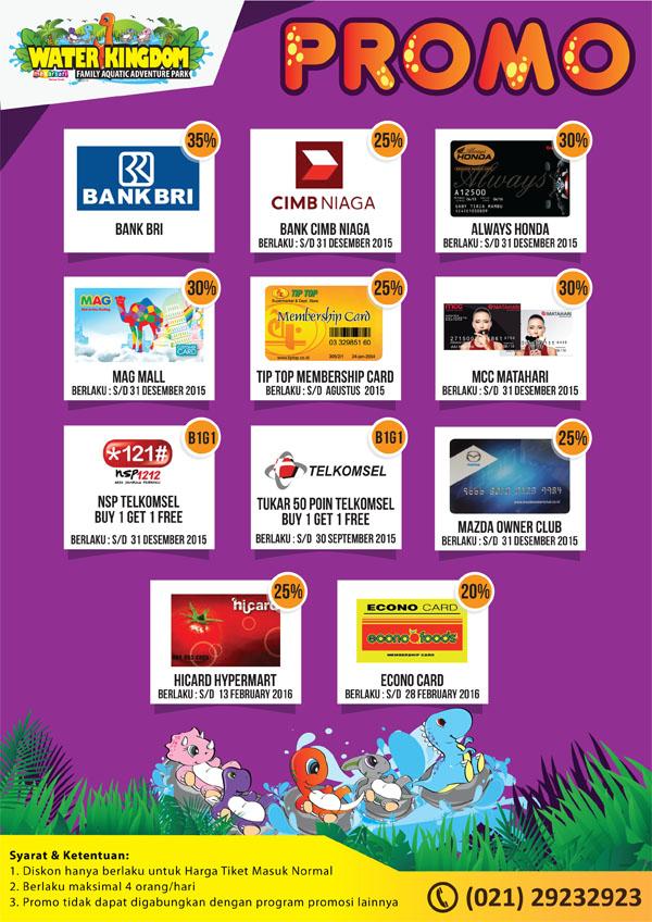 Promo dan Harga Tiket Masuk Water Kingdom Mekarsari Terbaru 2015