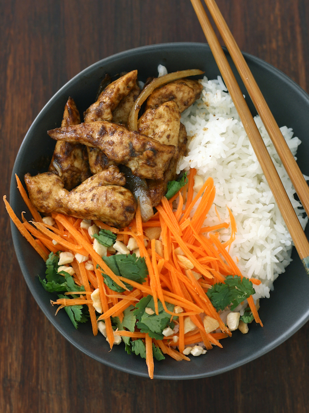 Easy Stir-Fried Lemongrass Ginger Chicken by SeasonWithSpice.com