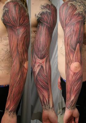 tatuaje de músculos