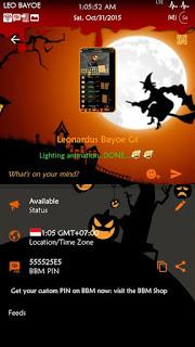 BBM Mod Happy Halloween's Day all. V2.10.0.31 Apk