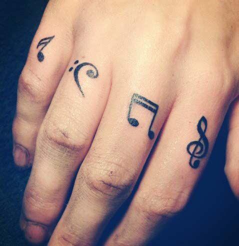 Tatuajes de notas musicales | Belagoria
