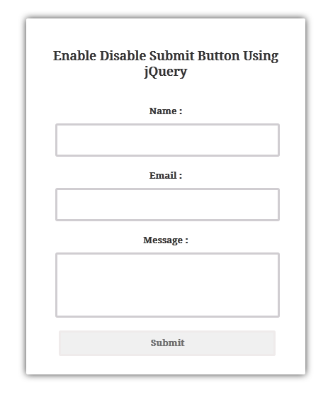 jquery disable or Enable submit button after validation