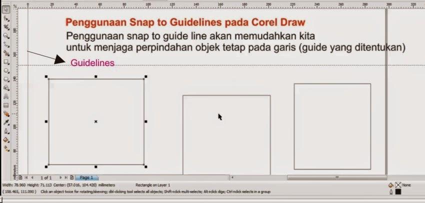 Penggunaan Snap to Guidelines pada Corel Draw