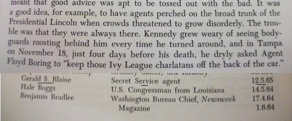 "THE KENNEDY DETAIL EXPOSED- Manchester's ""The Death of a President"", page 37+ interviews"