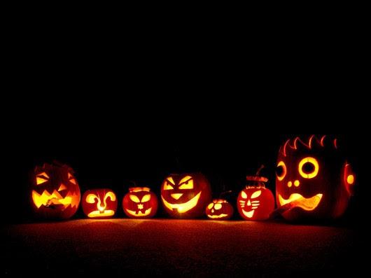 Halloween ideas pumpkin lights