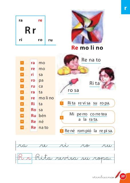 silabario infantil fichas de las sílabas