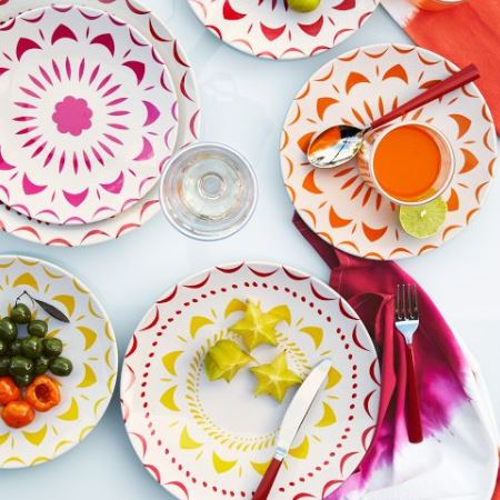 Festive Summer Plates  sc 1 st  The Trend Spot - Blogger : summer dinnerware sets - pezcame.com