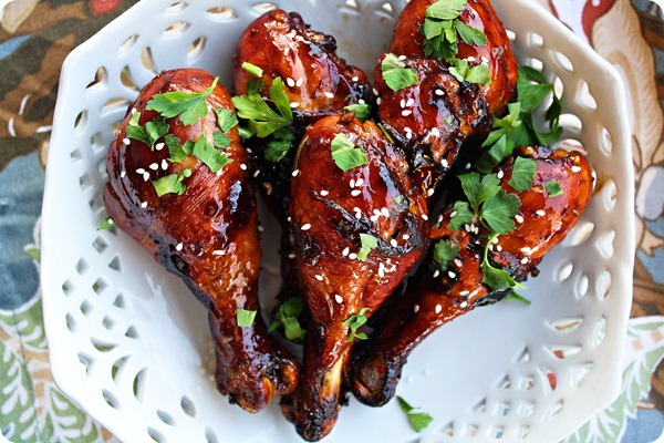 Cooking in Brazil: Sweet & Sticky Baked Chicken Drumsticks