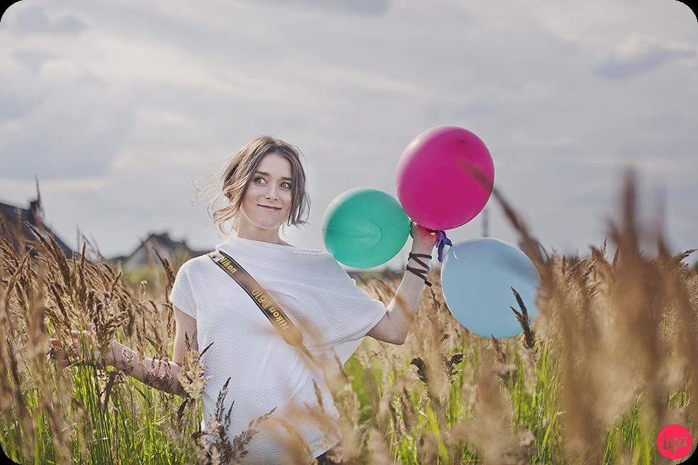 sesja ciążowa balony