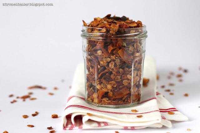 Rezept veganes Kokosgranola